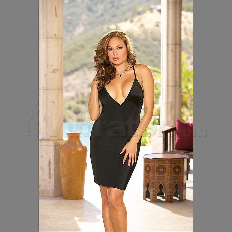 Intimate Affair Black Chemise & Thong