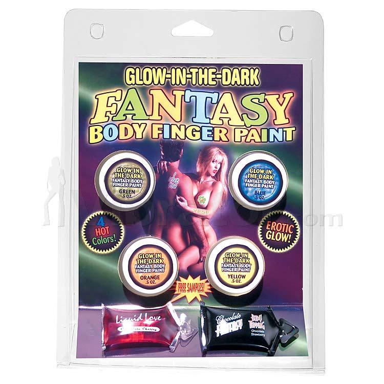 Glow in the Dark Body Finger Paints