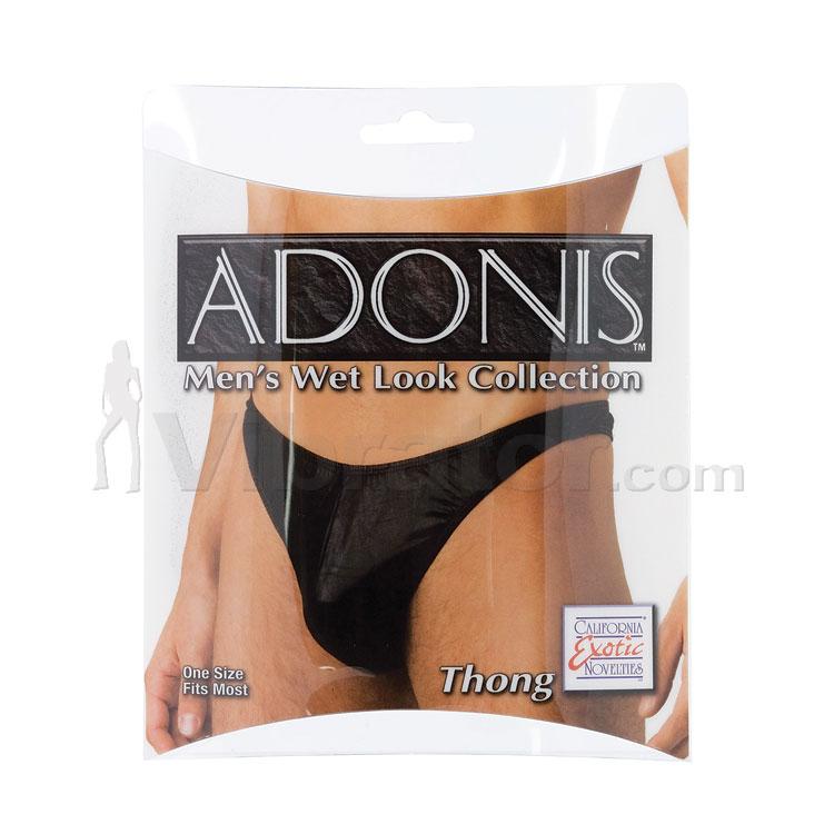 Adonis Men\'s Wet Look Thong
