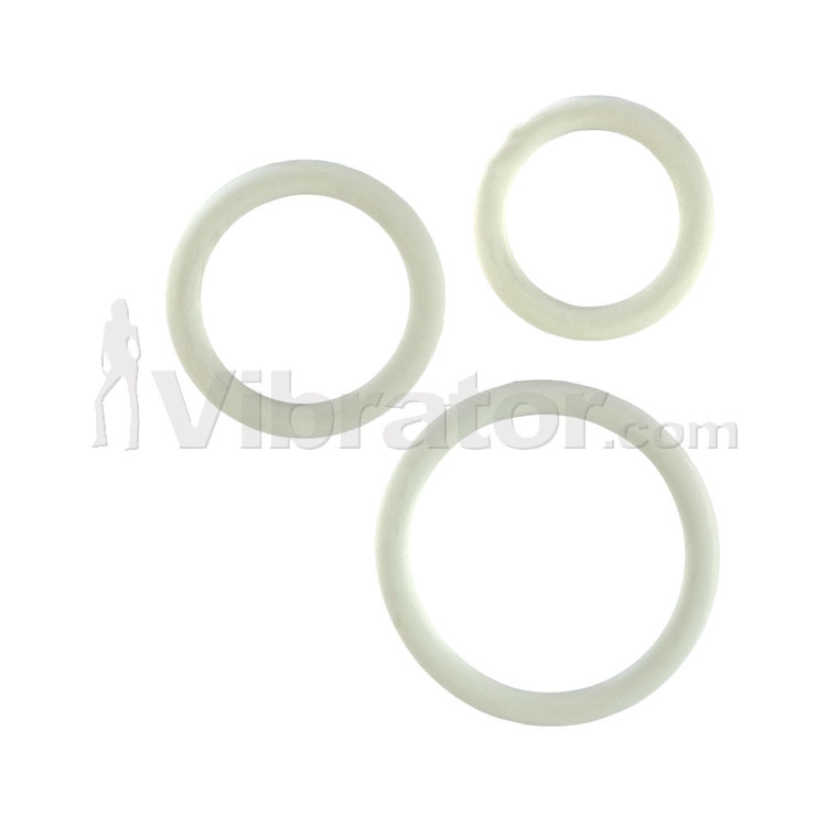 Rubber Cock Ring 3pc Set