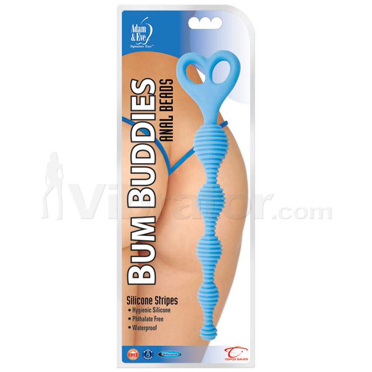 Adam & Eve Bum Buddies Silicone Stripes Anal Beads