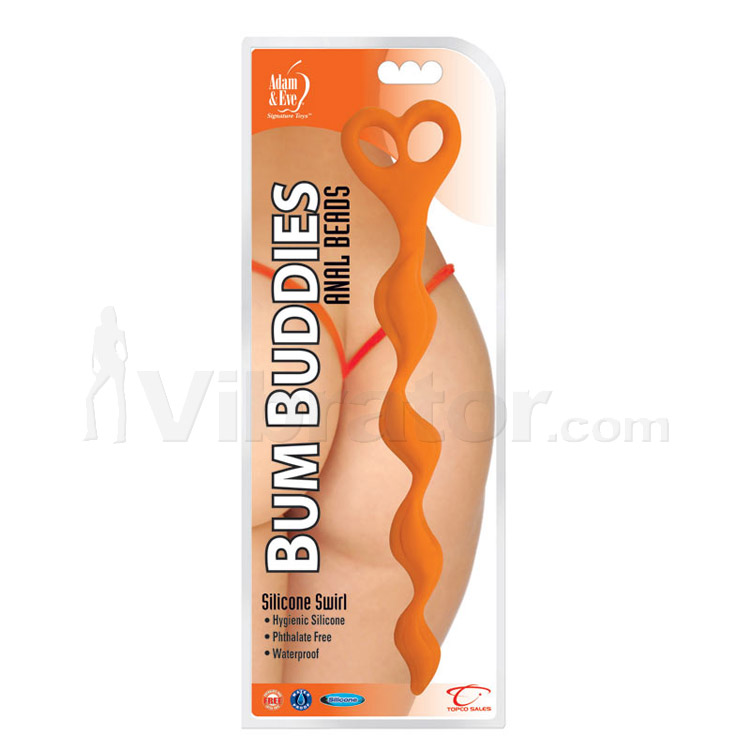 Adam & Eve Bum Buddies Silicone Swirl Anal Beads