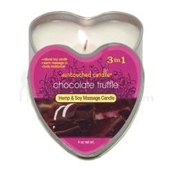 Chocolate Truffle Heart Massage Candle