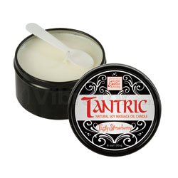 Tantric Natural Soy Massage Oil Candle - Lickable