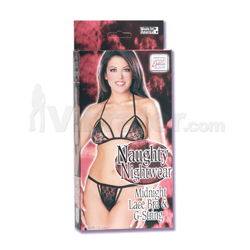 Naughty Nightwear Lace Bra and G-string