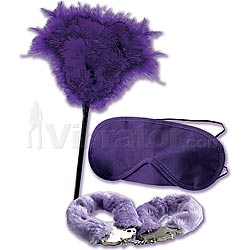 Berman Center Mistress Kit Cuffs Feather and Mask