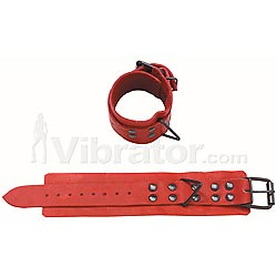 Red Leather Wrist Restraints